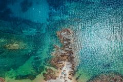 Aerial view of a tropical beach royalty free stock images