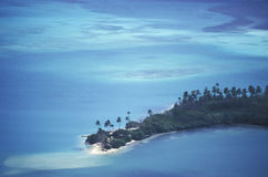 Aerial view of tropical beach. Royalty Free Stock Photography