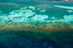 Aerial view of tropical coral reef ecosystem Stock Photo