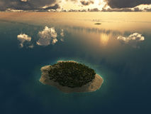 Aerial view of tropical island Stock Image