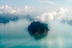 Aerial view of the tropical island Royalty Free Stock Image
