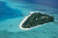 Aerial view on tropical island Stock Images