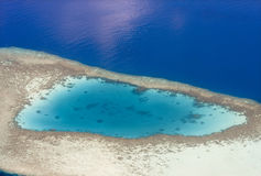 Aerial view of tropical island. Maldives Royalty Free Stock Images