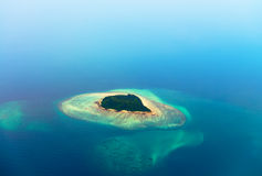 Aerial view of the tropical island Stock Photo