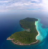 Aerial view on tropical island Royalty Free Stock Image