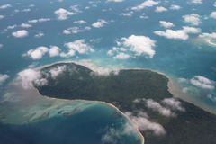 Aerial view of a tropical island Royalty Free Stock Images