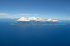 Aerial view of the tropical island of Moorea royalty free stock images
