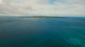 Aerial view tropical island. Philippines. Carabao Island stock video footage