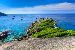Aerial view of tropical island, Similan, Thailand Stock Photography