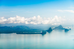 Aerial view of the tropical islands Stock Photography