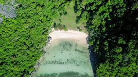 Aerial view of tropical islands at Angthong National Marine Park in Thailand. Shot with DJI Mavic fps 23,98 4k stock footage