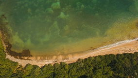 Aerial view tropical lagoon,sea, beach. Tropical island. Catanduanes, Philippines. Aerial view: beach, tropical island, bay and lagoon. Tropical landscape stock video