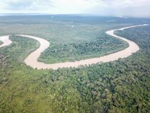 Aerial View of Tropical River