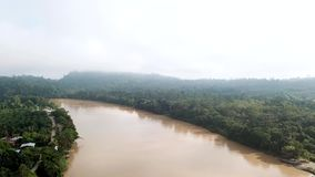 Aerial View of Tropical River. Shot with a DJI Mavic fps29,97 4k stock video