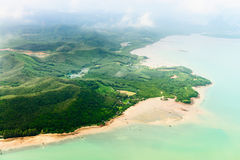 Aerial view of the tropical shore Stock Photos