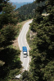 Aerial view of truck Royalty Free Stock Photo