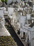 Aerial view of trulli in Alberobello Stock Images