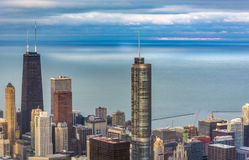 Aerial view of Trump Tower in Chicago Stock Photos