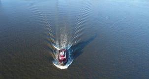Aerial View of Tugboat Delaware River Philadelphia PA stock video