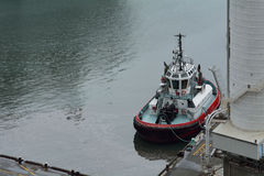 Aerial view of tugboat Stock Photo