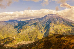Aerial View Of Tungurahua Volcano Day Explosion Royalty Free Stock Image