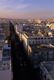 Aerial view- Tunis, Tunisia Royalty Free Stock Images