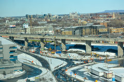 Aerial view of the Turcot project Stock Images