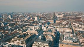 Aerial view of Turin. City at sunny day stock video footage