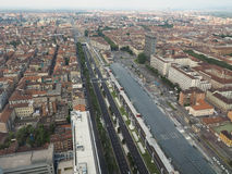 Aerial view of Turin Royalty Free Stock Photos