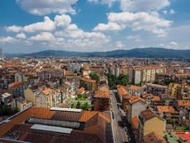 Aerial view of Turin stock image