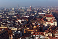 Aerial view of Turin, Italy Royalty Free Stock Image