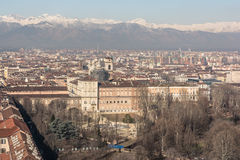 Aerial view of Turin, Italy stock photos