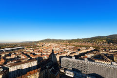 Aerial view of Turin - Piedmont Italy Stock Photo