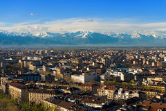 Aerial view of Turin - Piedmont Italy Royalty Free Stock Image