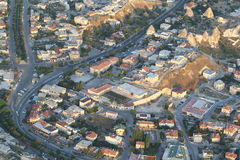 Aerial view of a turkey city Royalty Free Stock Images