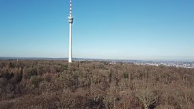 Aerial view of the TV Tower and the city of Stuttgart. Germany stock video