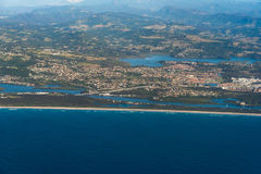 Aerial view of Tweed Head South with Banora point view Stock Images
