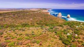 Aerial view of Twelve Apostles coastline, Australia Royalty Free Stock Photos