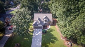 Aerial view of typical house in Southern United States Royalty Free Stock Photo