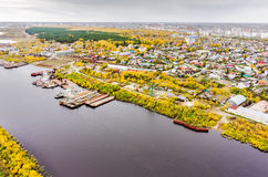 Aerial view on Tyumen Repair Yard. Tyumen. Russia Stock Images