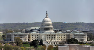 Aerial view of the U.S. Capitol. An aerial view of the U.S. Capitol in Washington, D.C Stock Image