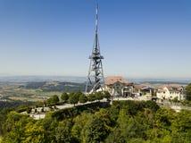 Aerial view of Uetliberg mountain in Zurich, Switzerland stock photo