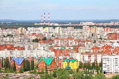 Aerial view of the Ufa city Stock Photo