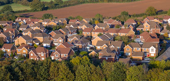 Aerial View of UK Houses stock photos