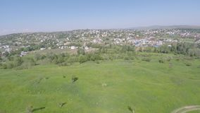 Aerial view of the Ukraine small town. drone view. stock video footage