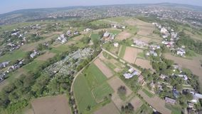 Aerial view of the Ukraine small town. drone view. stock footage