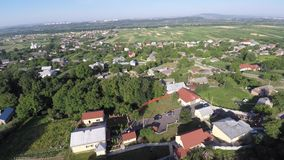 Aerial view of the Ukraine village. drone view. stock footage