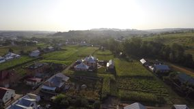 Aerial view of the Ukraine village. drone view. stock video footage