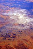 Aerial view of Uluru (Ayres Rock) Australia Royalty Free Stock Photography