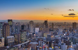 Aerial view Umeda city business downtown Royalty Free Stock Image